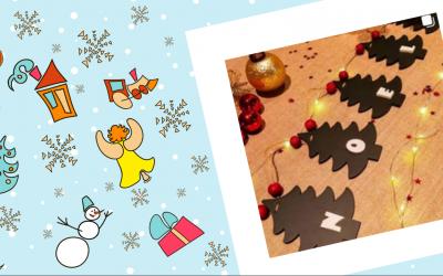 Decoración de adornos navideños de madera